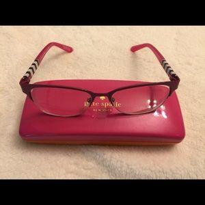 Kate spade prescription glasses with case